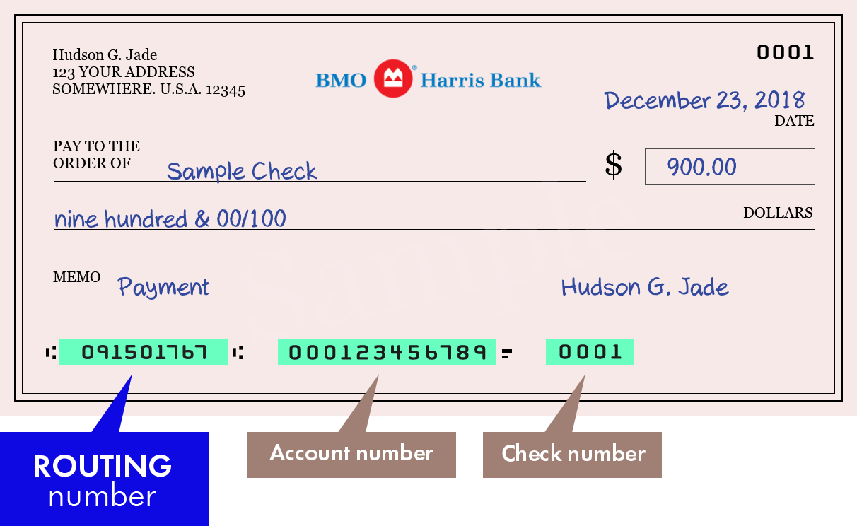 Routing Numbers Of Bmo Harris Bank Na Bank Routing Numbers