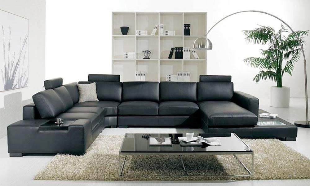 Cool Divani Casa T35 Modern White Leather Sectional Sofa With Theyellowbook Wood Chair Design Ideas Theyellowbookinfo