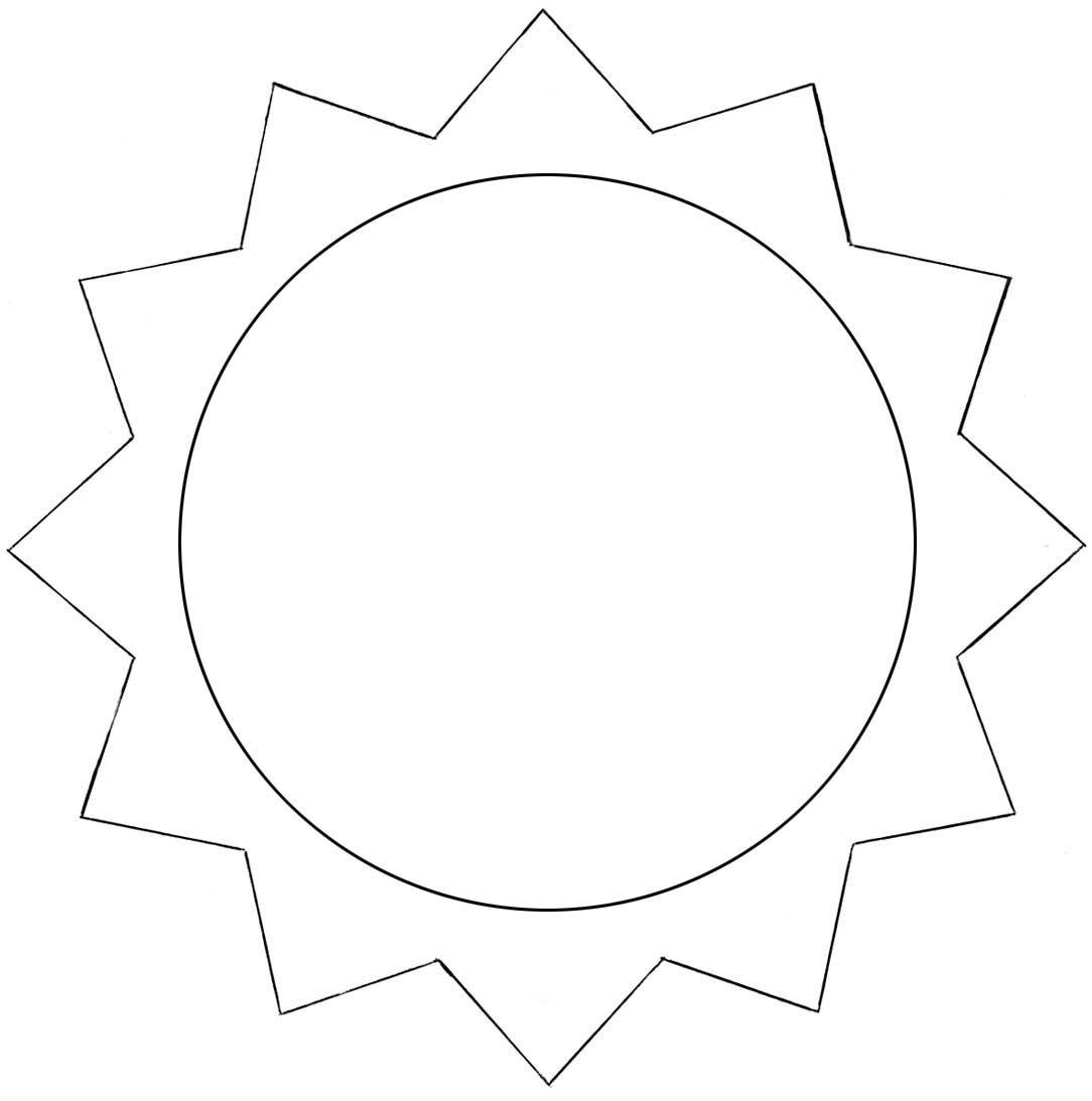 Sonne Vorlage Zum Ausdrucken Als Pdf Kribbelbunt 9
