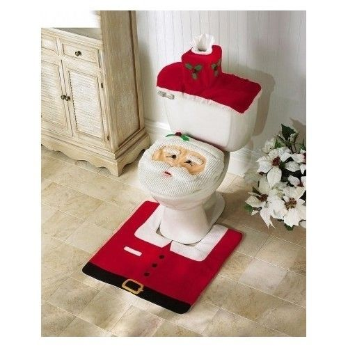 Christmas Bathroom Set Toilet Seat Set Bath Sets Christmas - Quality bathroom rugs for bathroom decorating ideas