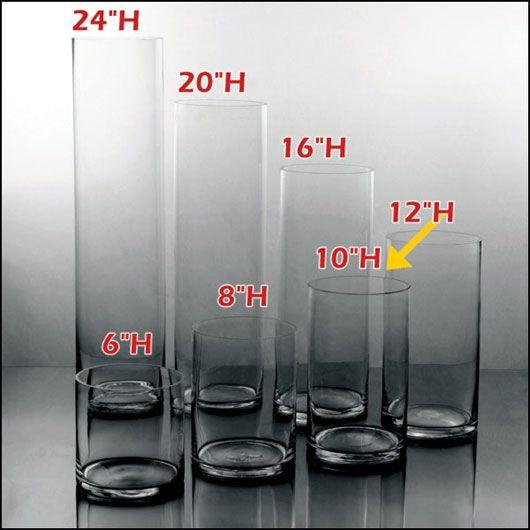 6w X 10h Premium Clear Cylinder Vases 12pcs 740 Ea Glass