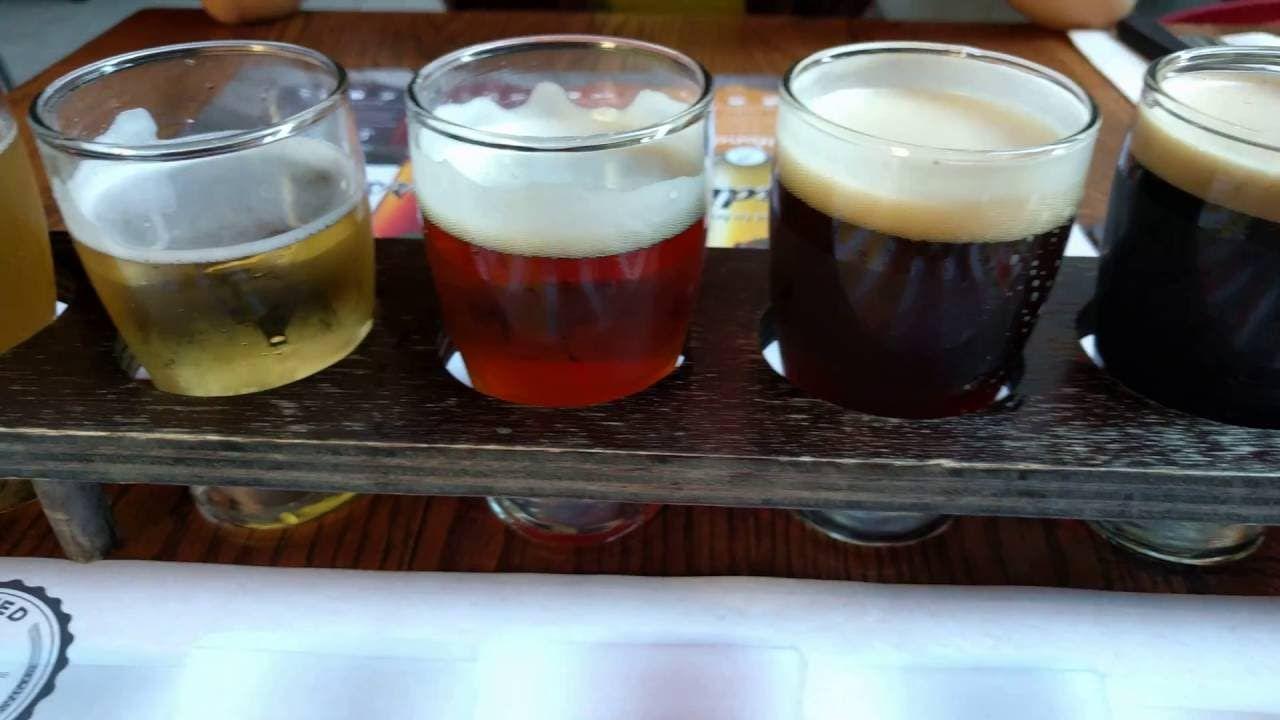Six Beer Tasting Flight at 3BrasseursCA Tasting the