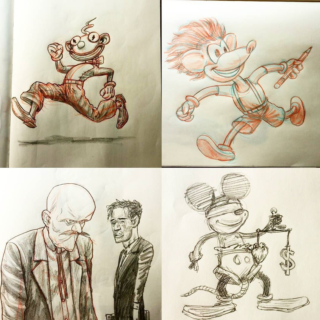 More doodling fun times getting some fresh cartooning done for the new course. Bottom right is actually old found in the sketchbook I'm using tonight.