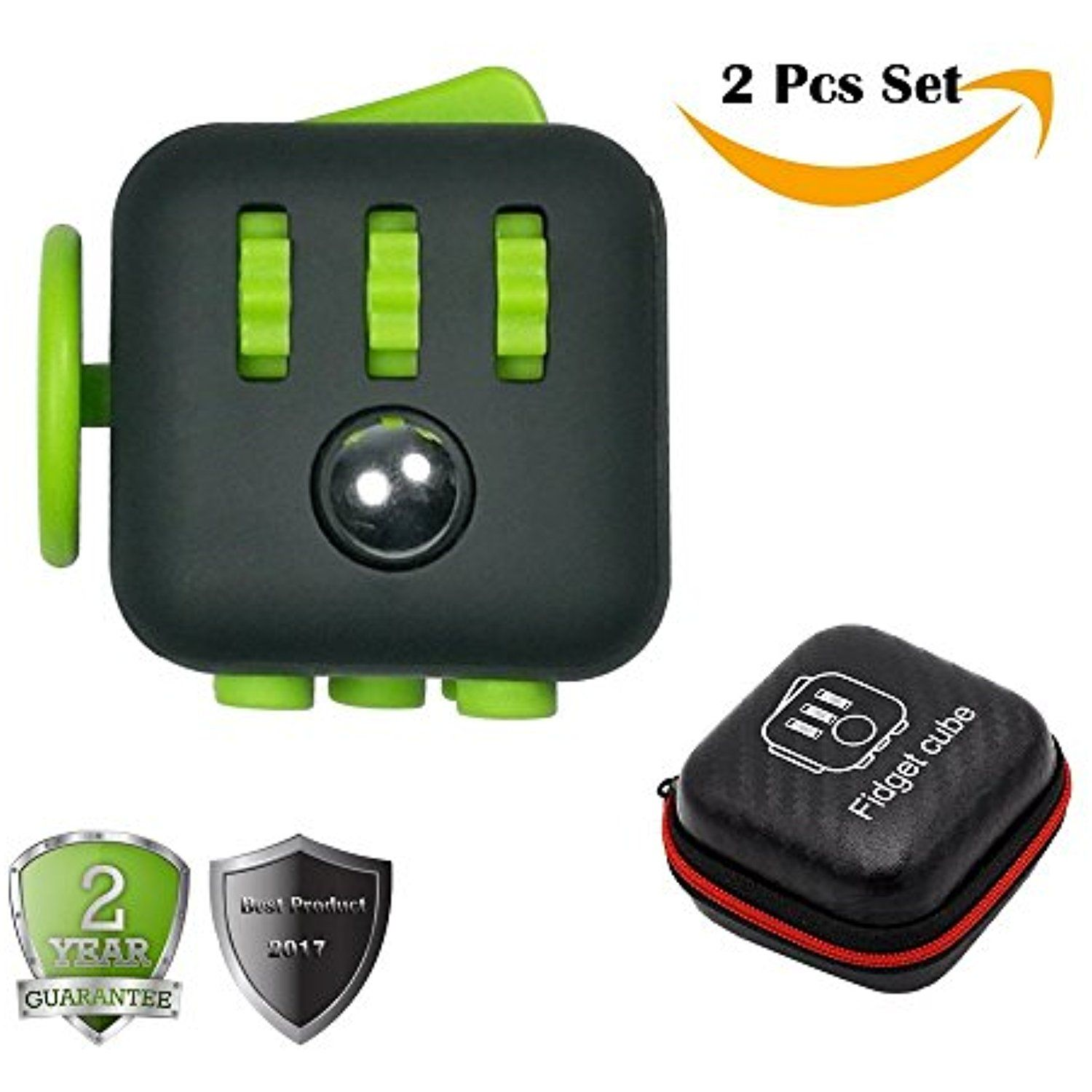 2 Pcs Fidget Cube For Stress And Anxiety With Protective