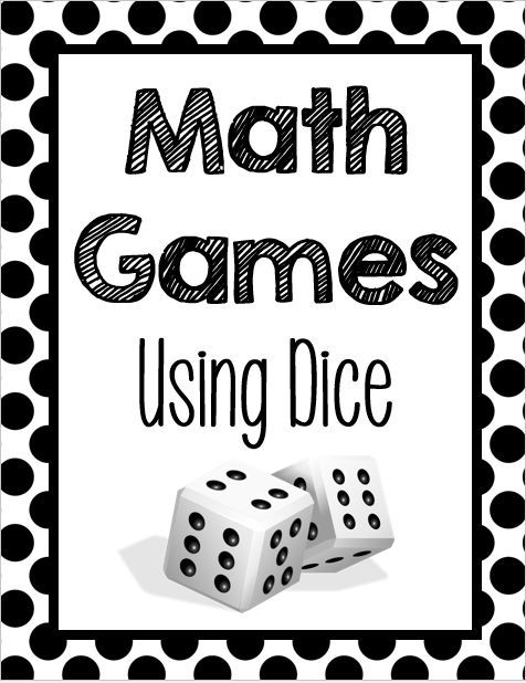Free Fun List Of Math Games For 3rd 5th Grades Using Dice To
