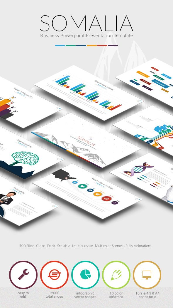 Creative PowerPoint Infographic Template Lilinmungil Pinterest - Unique cool powerpoint presentation ideas scheme