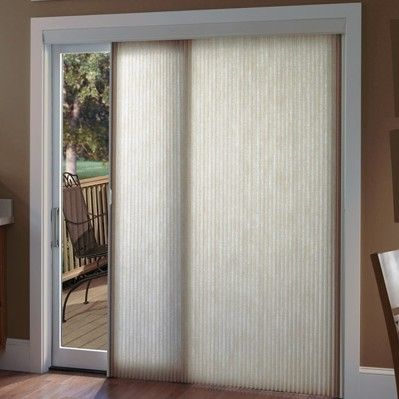 Cellular Sliders Are A Great Choice For Patio Door Blinds And Shades Door Coverings Sliding Glass Door Window Treatments Simple Window Treatments