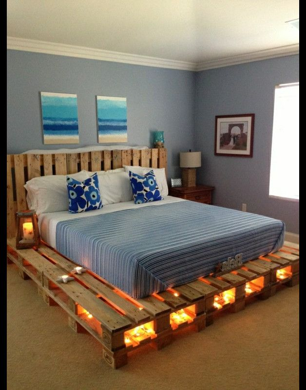 palettenbett paletten style pallets bedrooms and. Black Bedroom Furniture Sets. Home Design Ideas