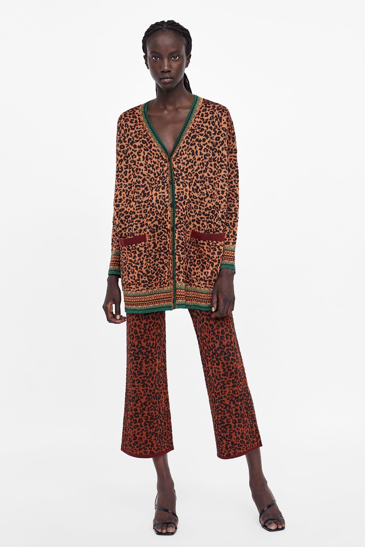 Imagen Zara Estampado Pantalón De 1 Animal XwqWrBXz