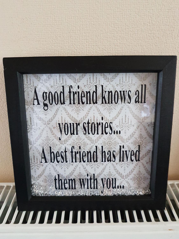 Handmade a friend best friend friends forever box frame by ...