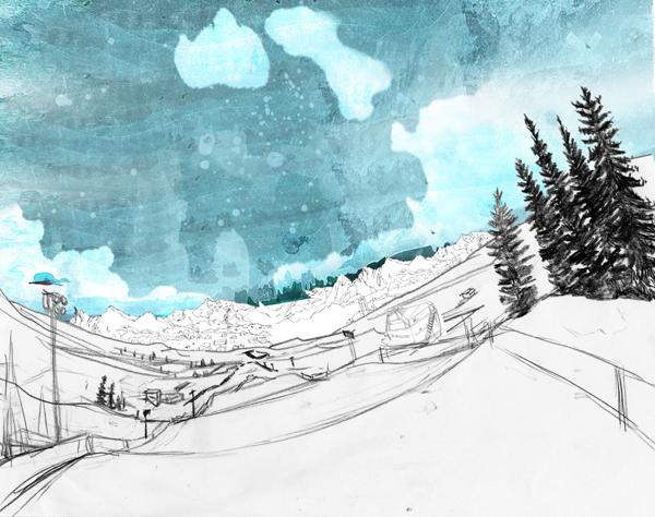 Winter X Games by Golden Wolf, via Behance