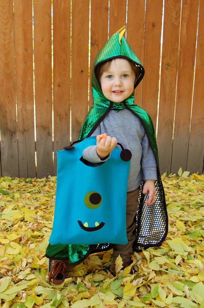 DIY Halloween Trick or Treat Tote - Monster themed bag