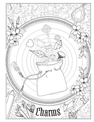 Book Of Spells Witch Coloring Pages Book Of Shadows Book Of Shadow