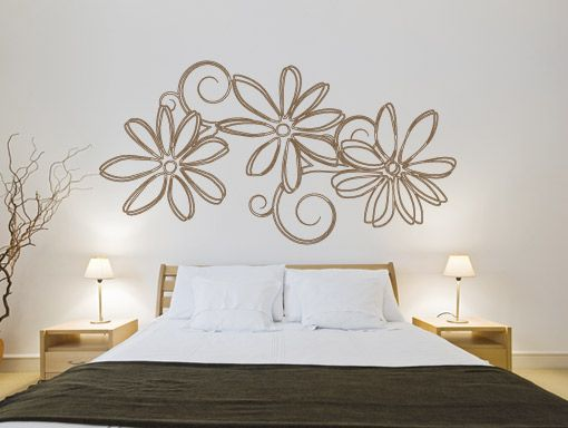 Wall Decals For Home floral outlines wall decal for home decoration | wall stickers