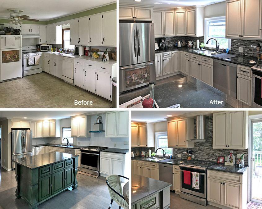 Builders Surplus Testimonials Kitchen, Biltmore Pearl Kitchen Cabinets