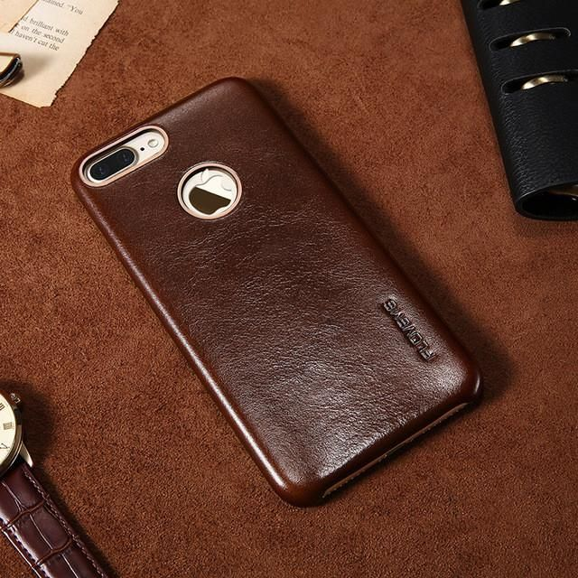 FLOVEME Genuine Leather Case For iPhone 7 6 6S Plus Luxury Business Slim Mobile Phone Accessories For iPhone 6 6S 7 Cases Cover