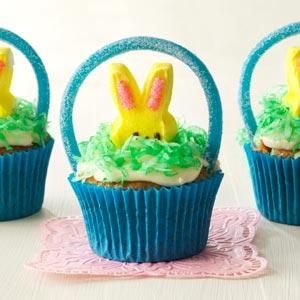 Easter basket cupcakes recipe easter baskets easter and recipes negle Images