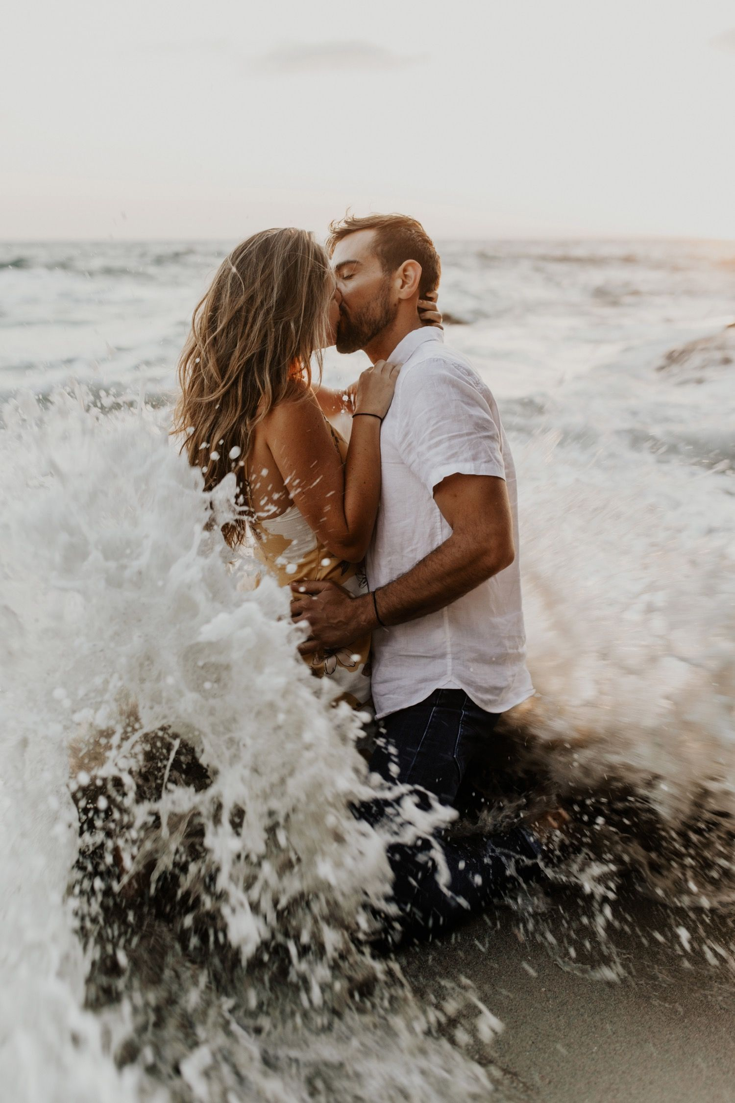 Laguna Beach Sunset Engagement Session  Tess Laureen Photography Tess Laureen Pbeach