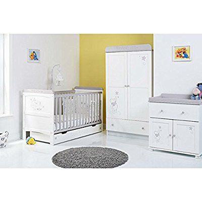 Disney Winnie The Pooh 3 Piece Nursery Furniture Set Dreams Wishes