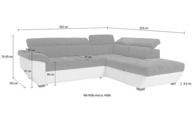 Cotta Ecksofa Inklusive Kopfteilverstellung Wahlweise Mit Bettfunktion Und Bettkasten L Shaped Sofa Sofa Sectional Couch