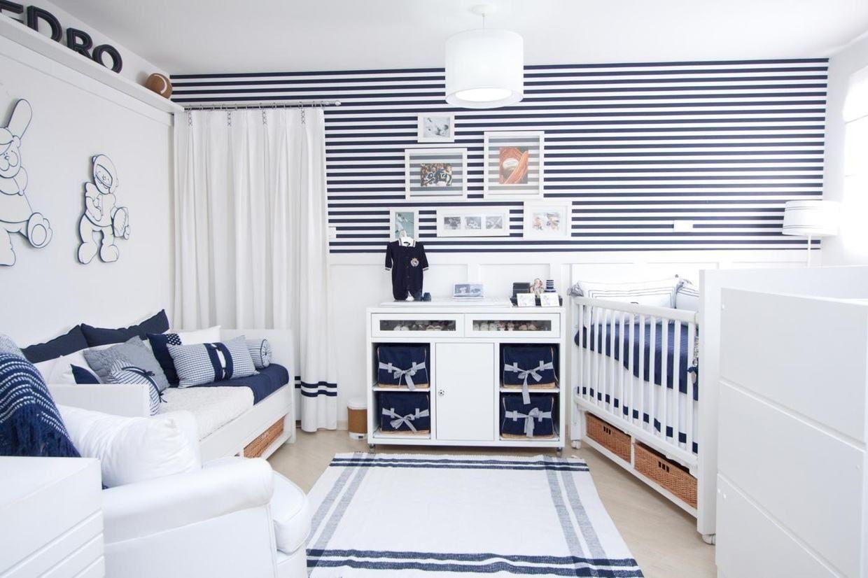 Imagem55 Beb Menino Pinterest Paredes Azuis Tons De Azul  ~ Quarto De Bebe Branco E Cinza E Armario Alvenaria Quarto