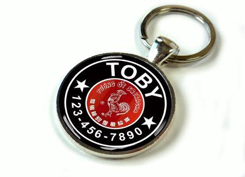 Hot Sauce Sriracha Rooster Unique Pet Tag Dog Pet Tag ID Cute Pet Tag Handmade   eBay