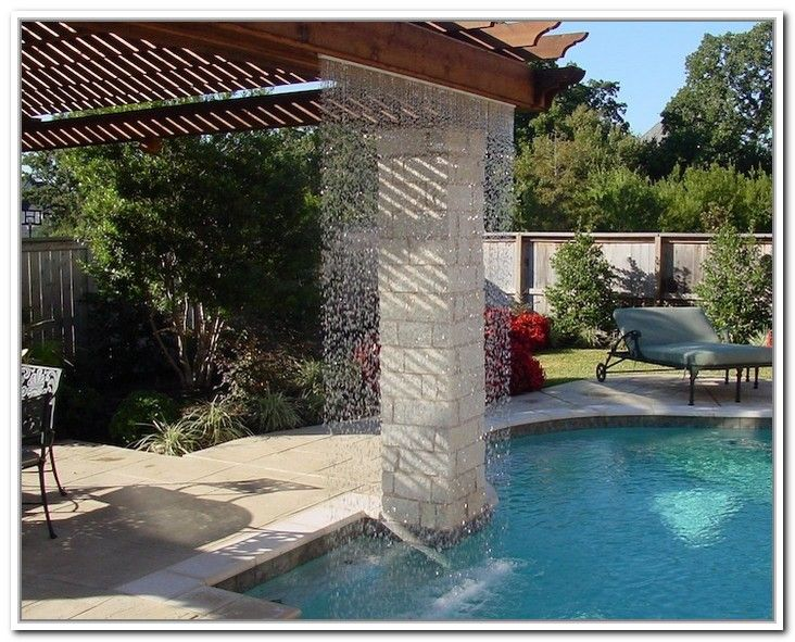 Rain Curtain Water Feature Features Pool Fountain