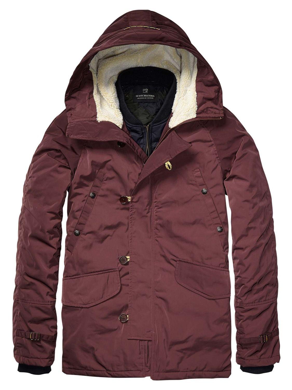 Parka Jacket With Inner Bomber > Mens Clothing > Jackets