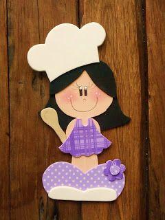 Bonecas Vestidas De Cozinheiras Em Eva Artesanato Arte Da