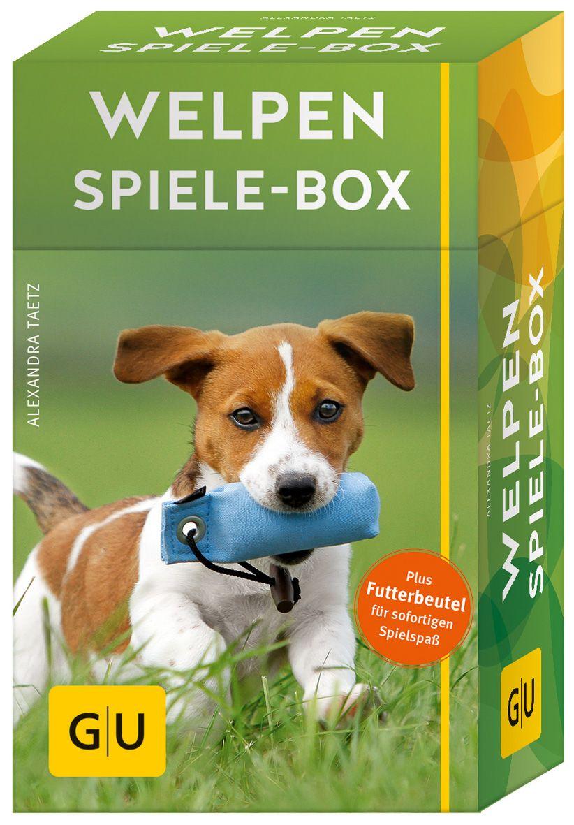 Die Welpen Spiele Box Liefert Viele Abwechslungsreiche Spiele Fur Drinnen Und Draussen Und Zeigt Wie Man Welpen Durch Das Welpen Welpen Erziehen Hunde