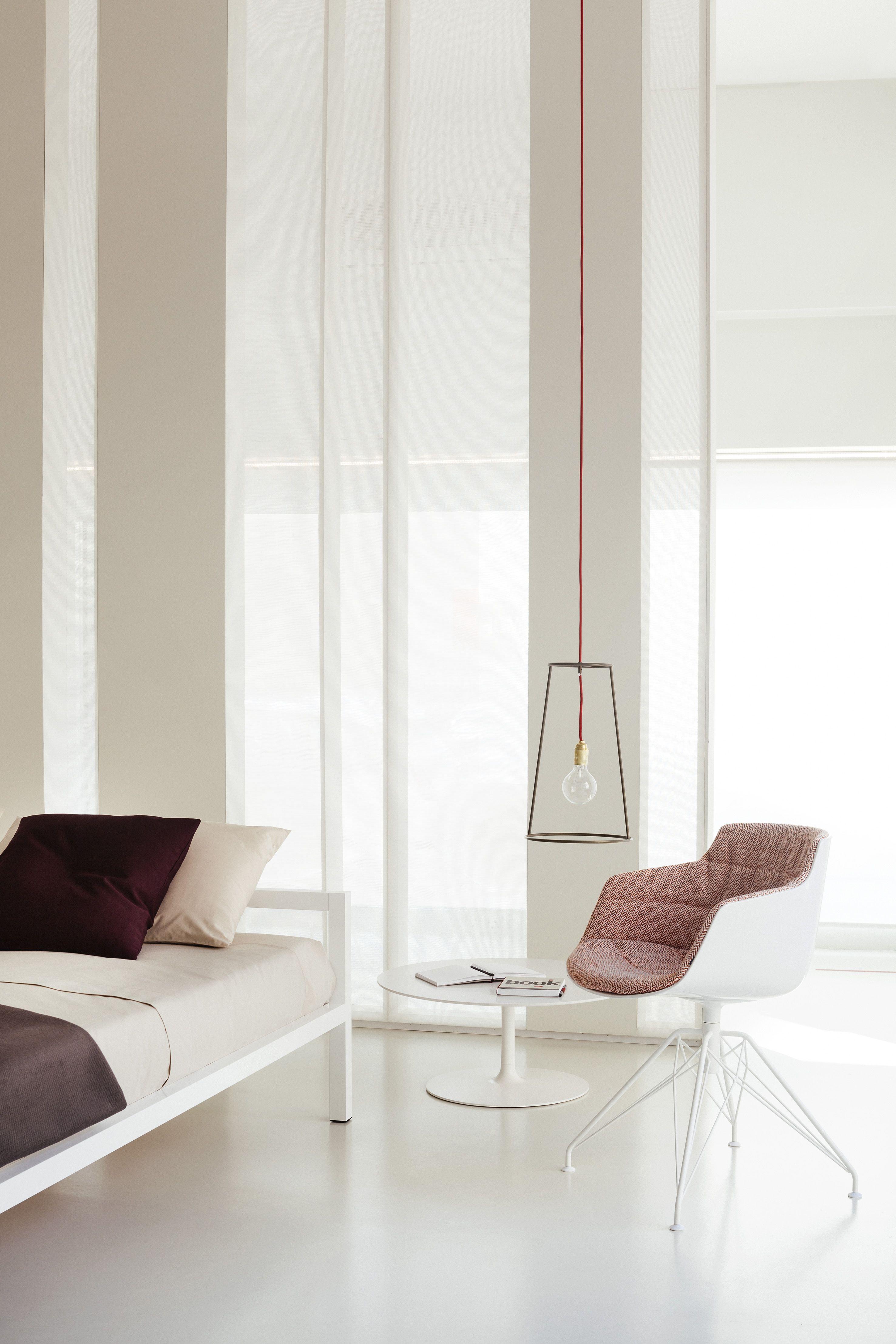 Mdf Italia Flow Slim Armchair  Aluminium Bed  Flow Side Table