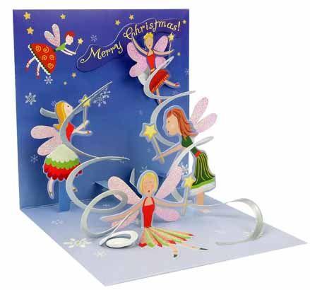 Christmas Fairies Pop Up Card Vsplyvayushie Karty Vsplyvayushie