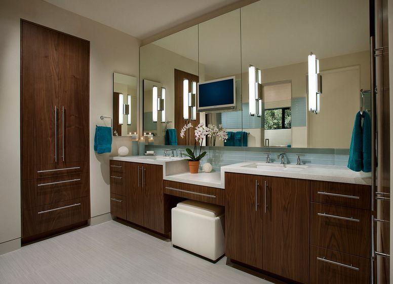 How To Pick A Modern Bathroom Mirror With Lights Modern Bathroom