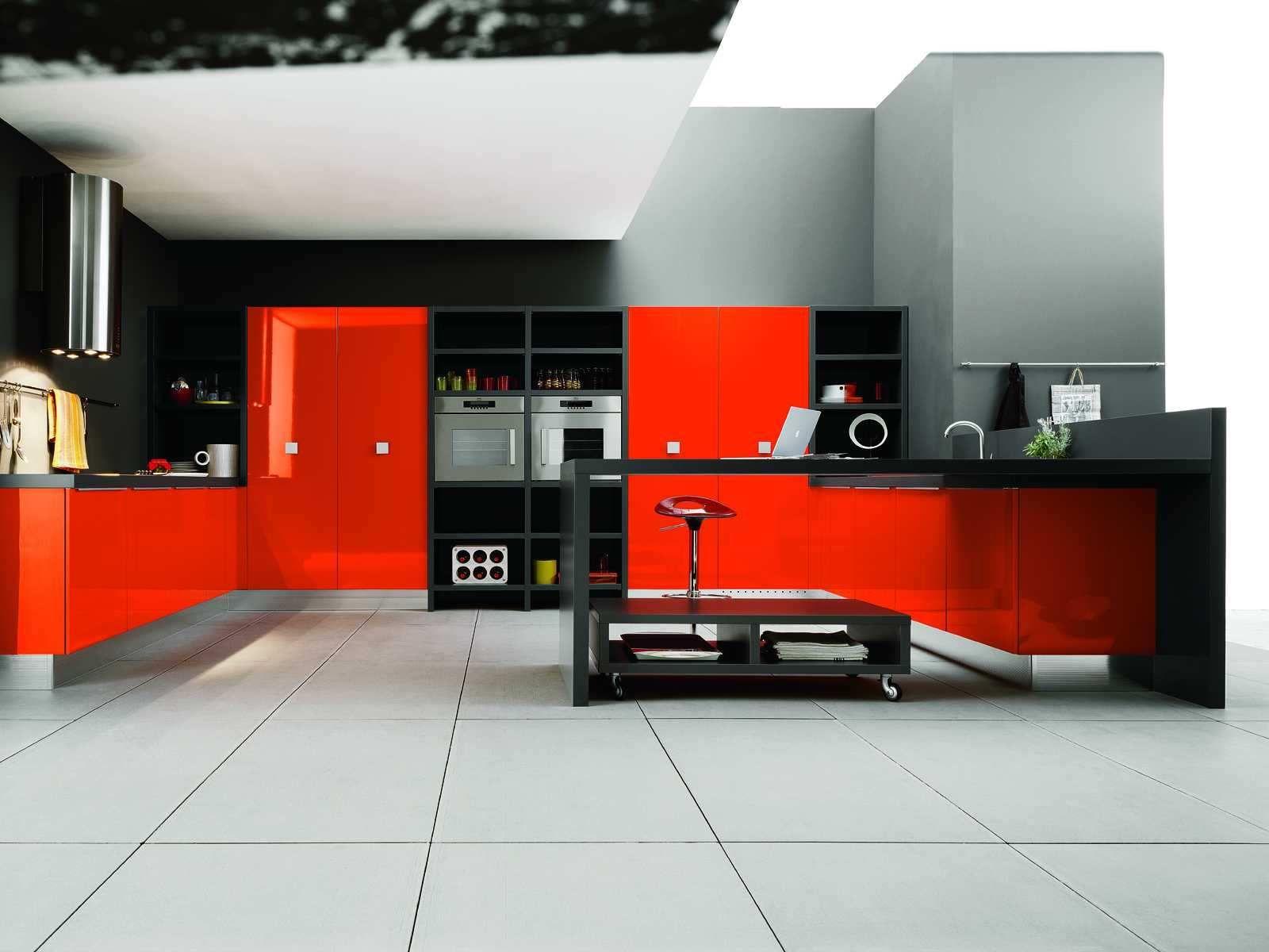 Kitchenbest Interior Design Kitchen With Red Domination Kitchen Brilliant Kitchen Design Red And Black Decorating Design