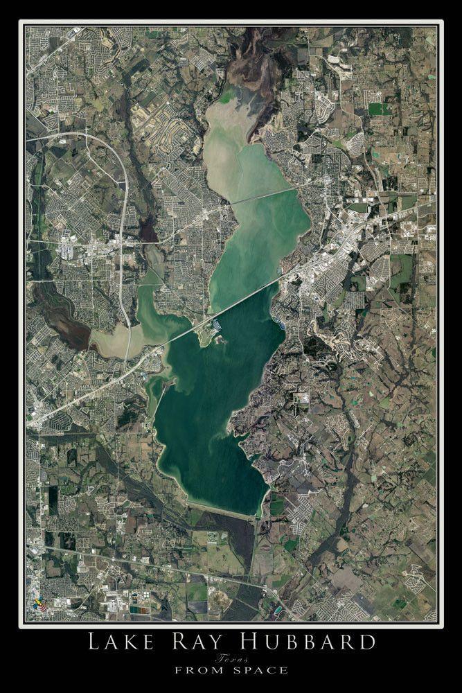 lake ray hubbard map The Lake Ray Hubbard Texas Satellite Poster Map Satellite Maps lake ray hubbard map