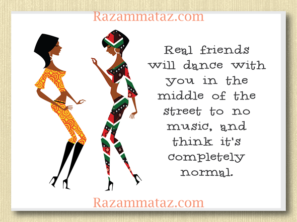 African American Dancing Friends Greeting Card A Friends