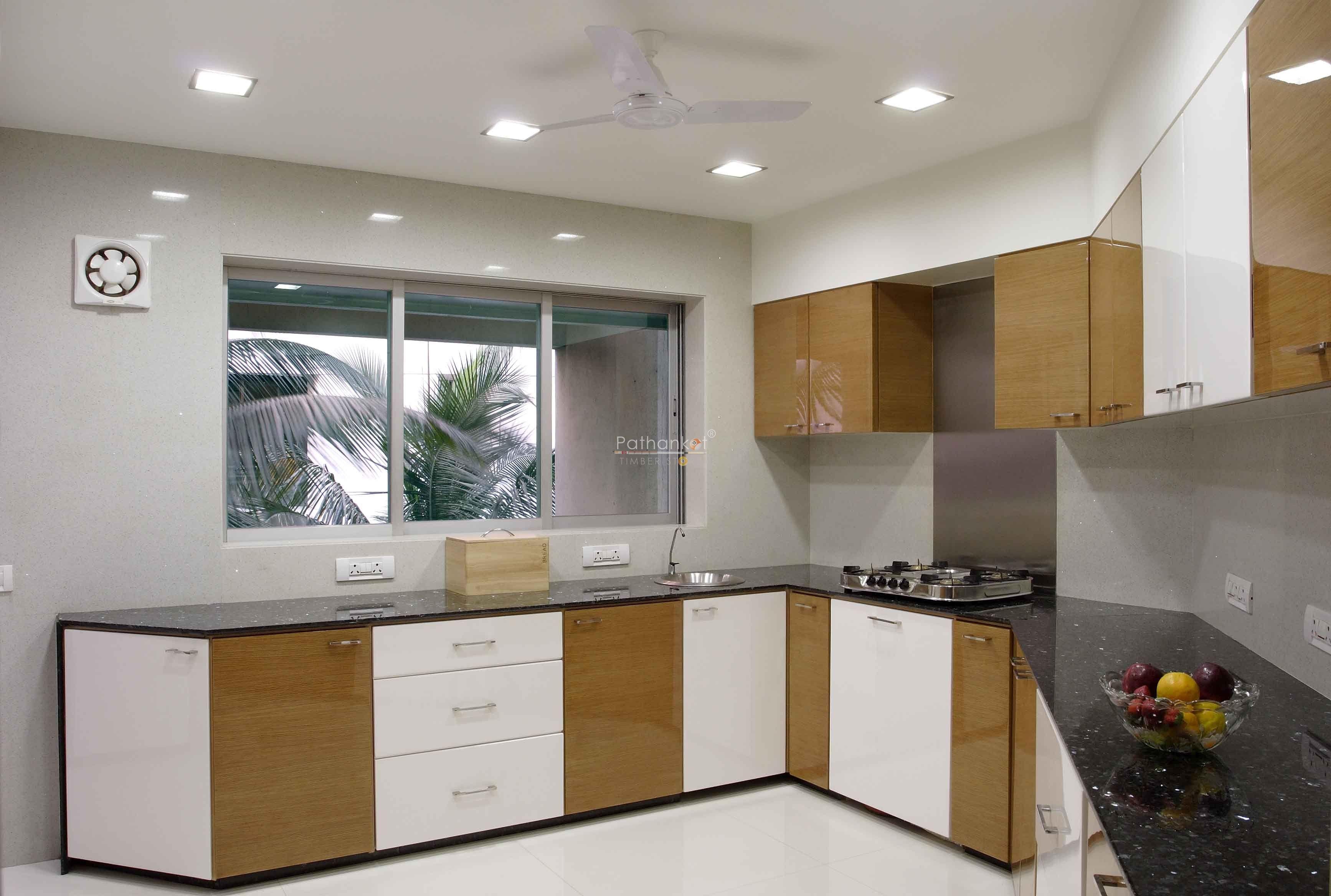 Modular Kitchen Design White And Black