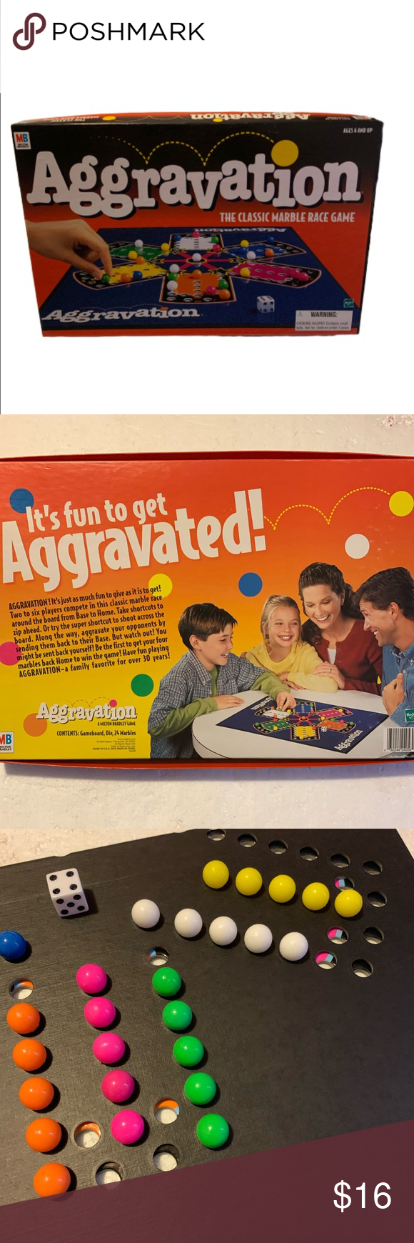 Vintage Aggravation Marble Race Game MN Complete Vintage
