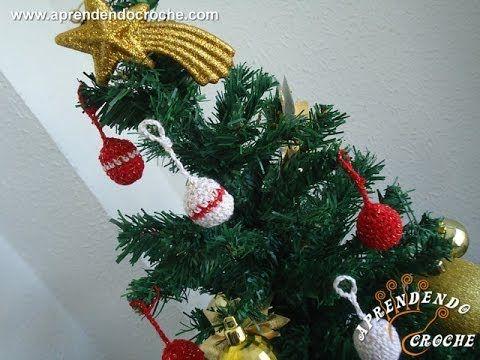 Enfeite de Natal - Mini Bolinhas de Croche - Aprendendo Crochê (+playlist)