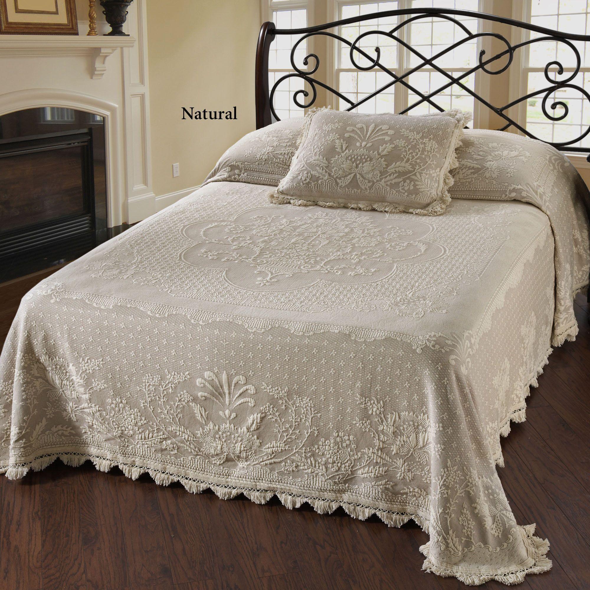 Abigail Adams Woven Matelasse Bedspread Bedding Bed