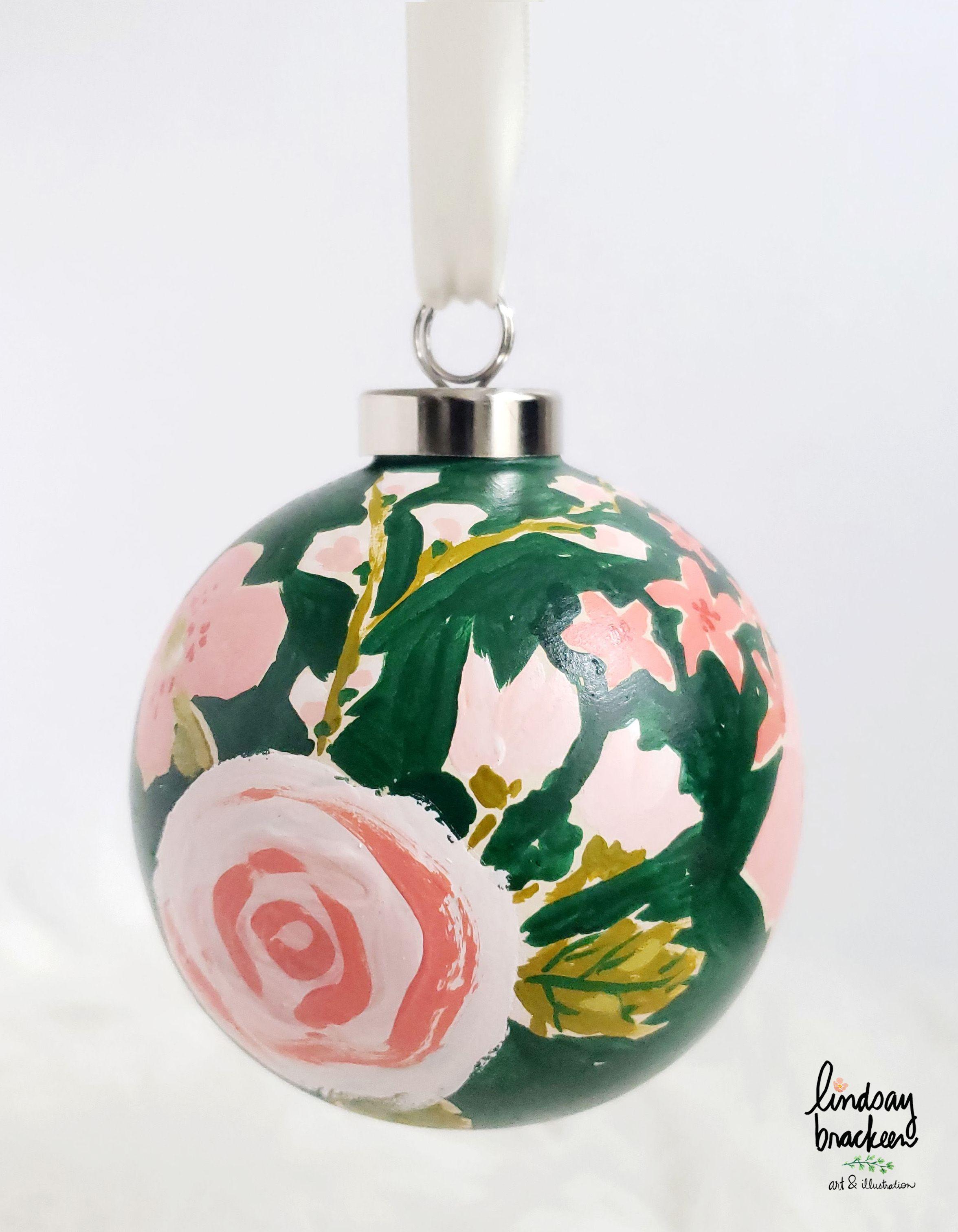 Hand Painted Ceramic Ornaments By Lindsay Brackeen Boho Christmas Decor Hand Painted Beads Christmas Ornaments
