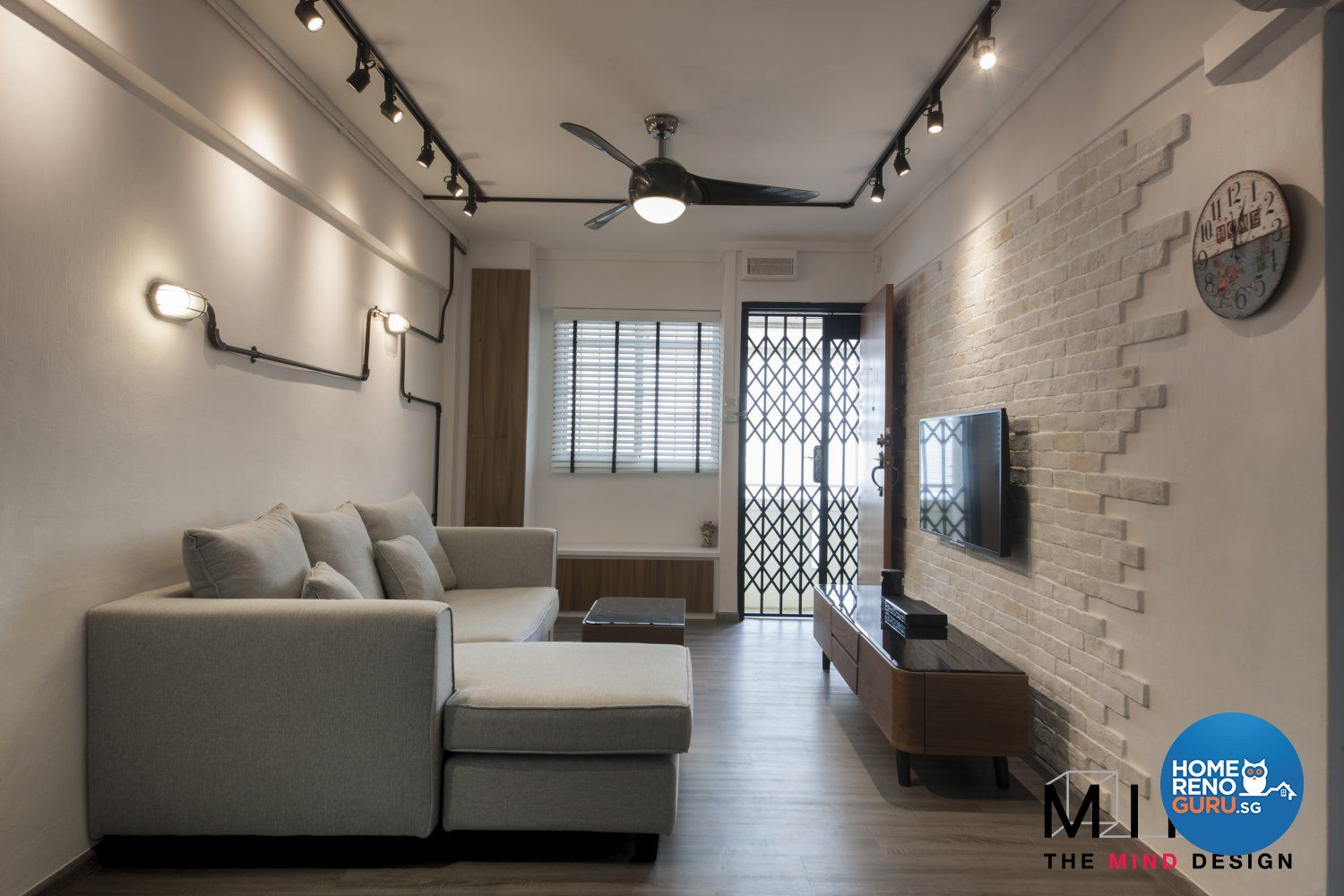 Industrial Scandinavian Design Living Room Hdb 3 Room Design By The Mind Design Small Apartment Design Home Room Design Scandinavian Design Living Room
