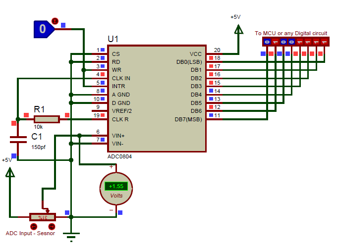 Adc0804 Example Circuit Diagram