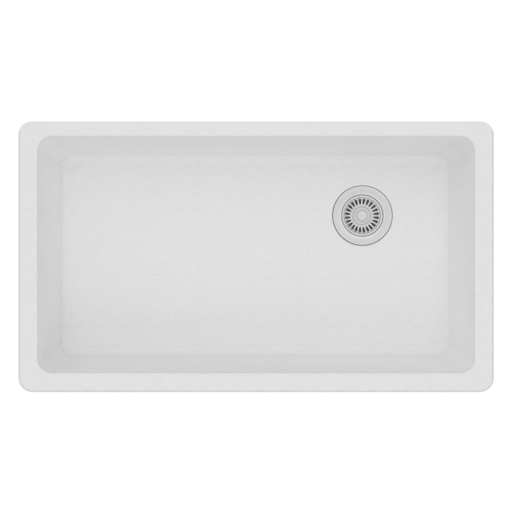 Elkay Quartz Classic Granite Single Bowl Undermount Kitchen Sink ...