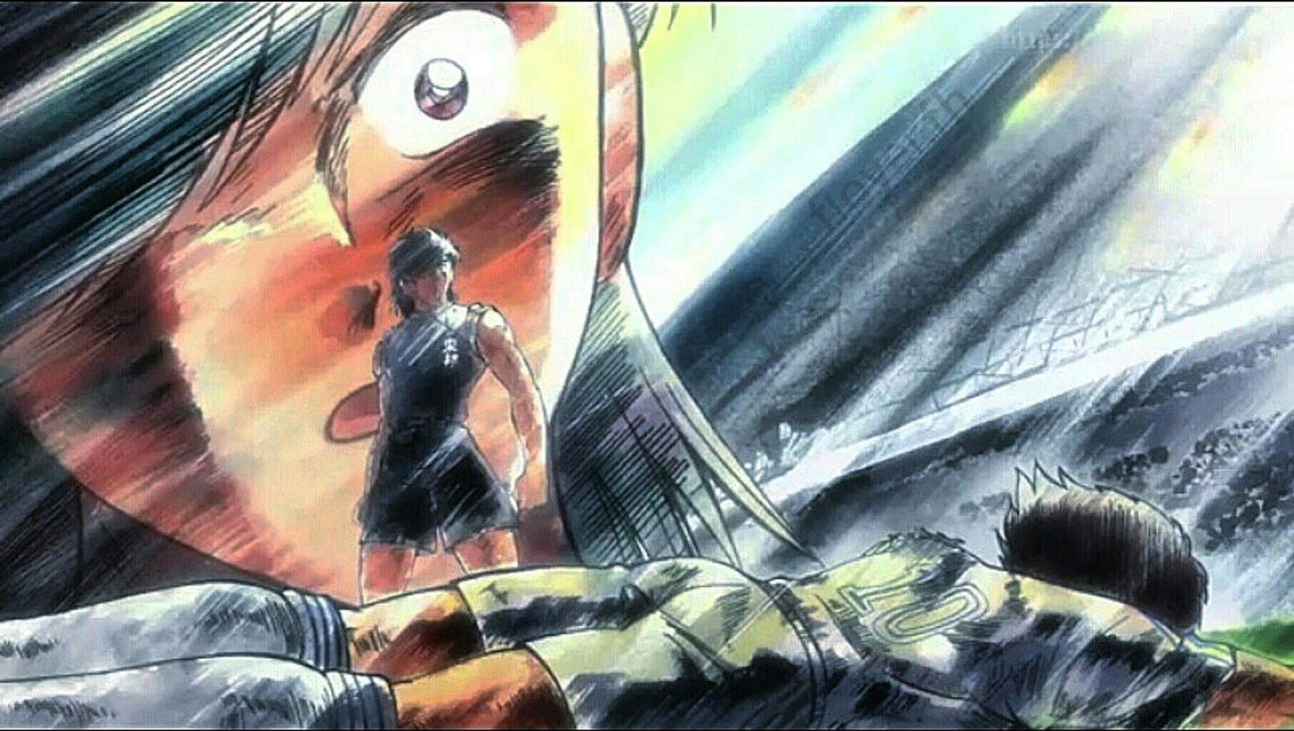 Hyuga and Tsubasa battle Capitan tsubasa, Captain