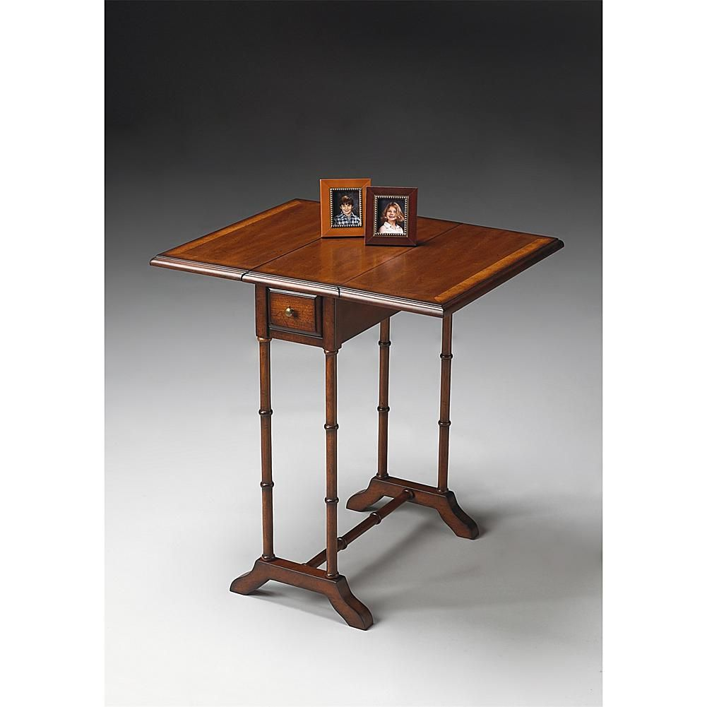 Home Marketplace Slim and Simple Drop Leaf Table - Umber