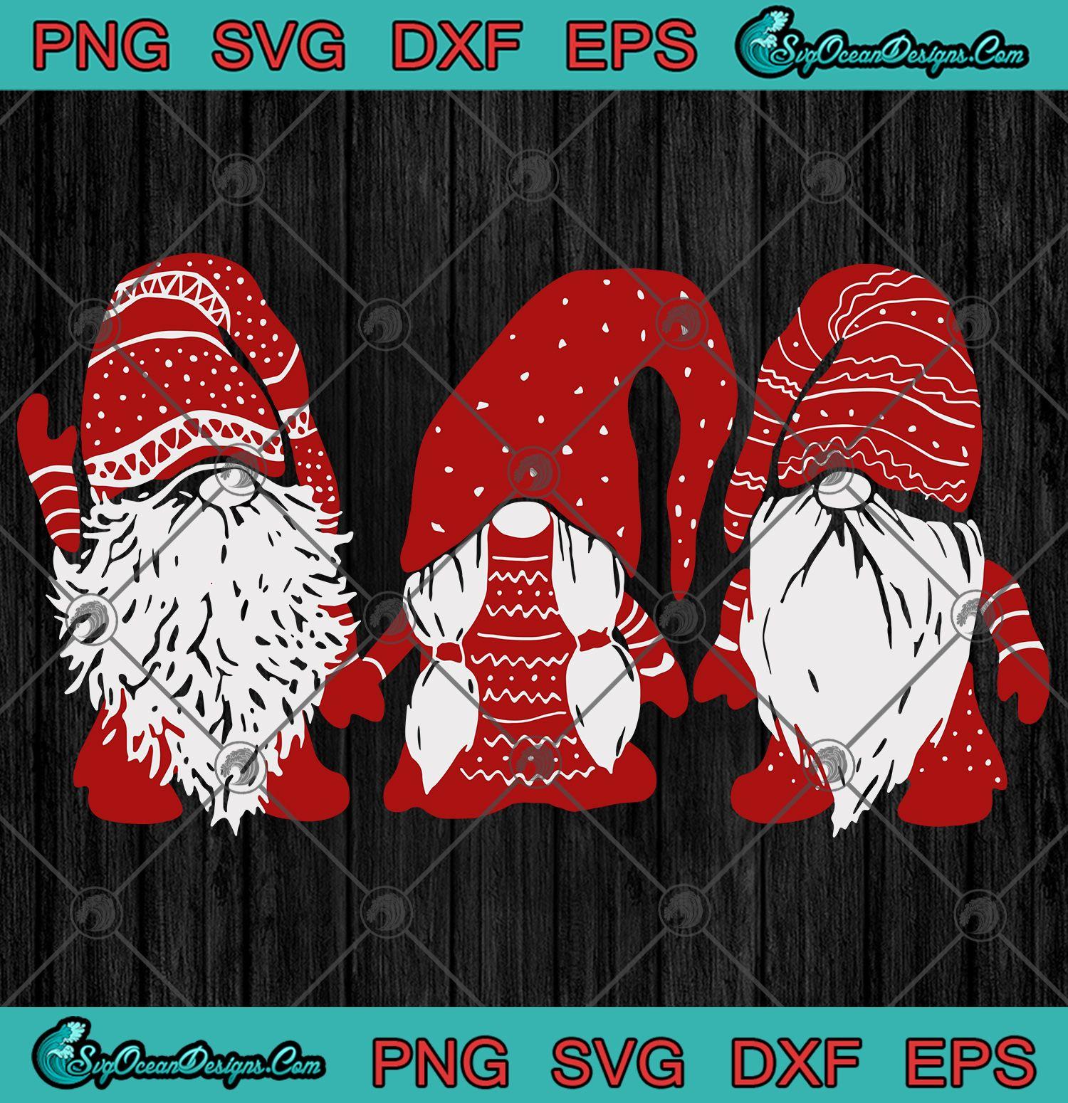 Download Three red Gnomes Santa Gnomies Christmas Svg Png Eps Dxf ...