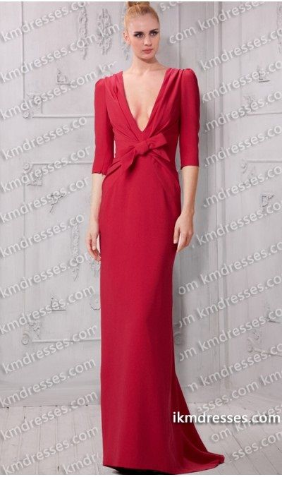 http://www.ikmdresses.com/Fabulous-Puff-shoulders-Elbow-Sleeve-Plunging-V-neck-Evening-Dress-Celebrity-Inspired-by-Sarah-Paulson-p59622