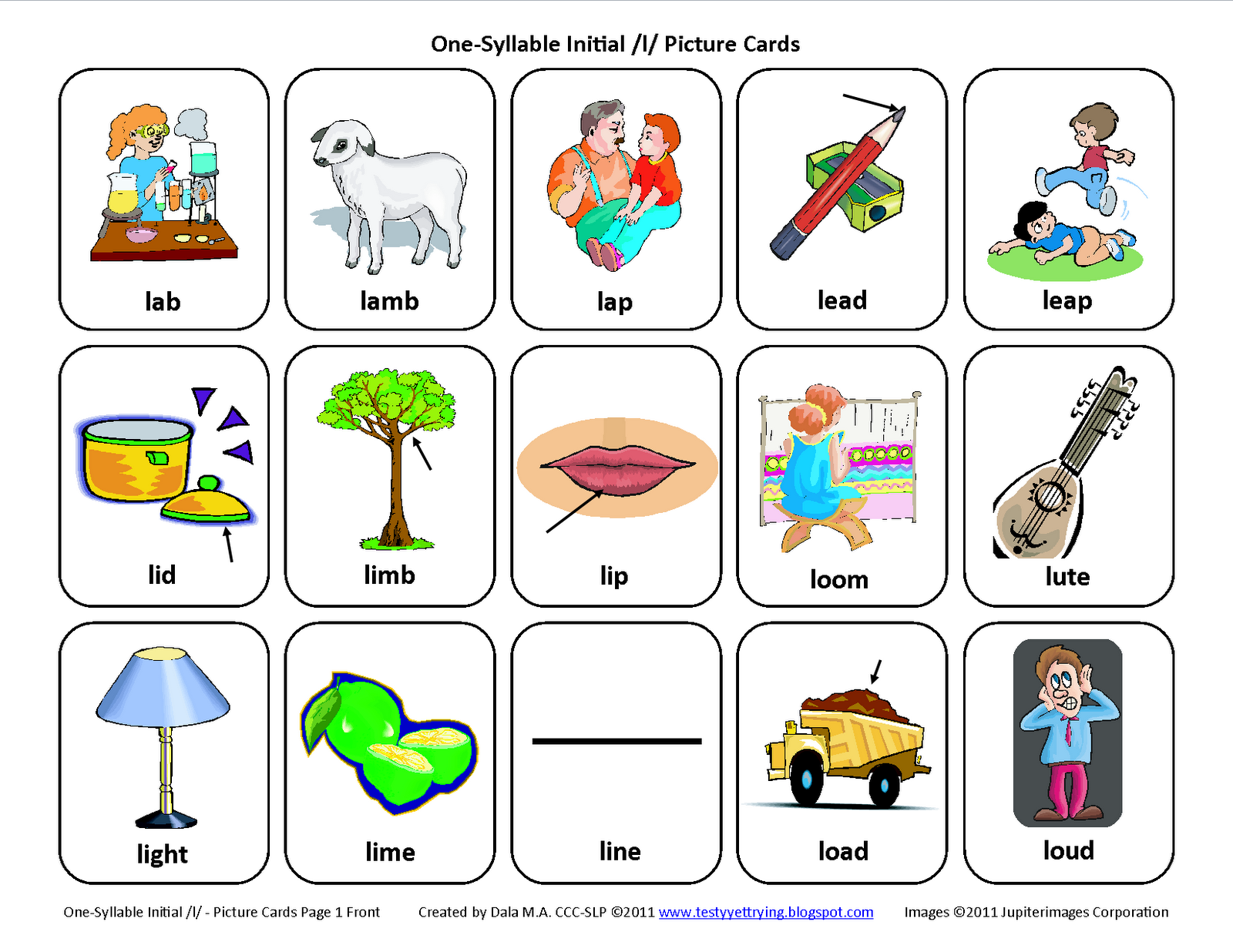 Speech Therapy Articulation Cards