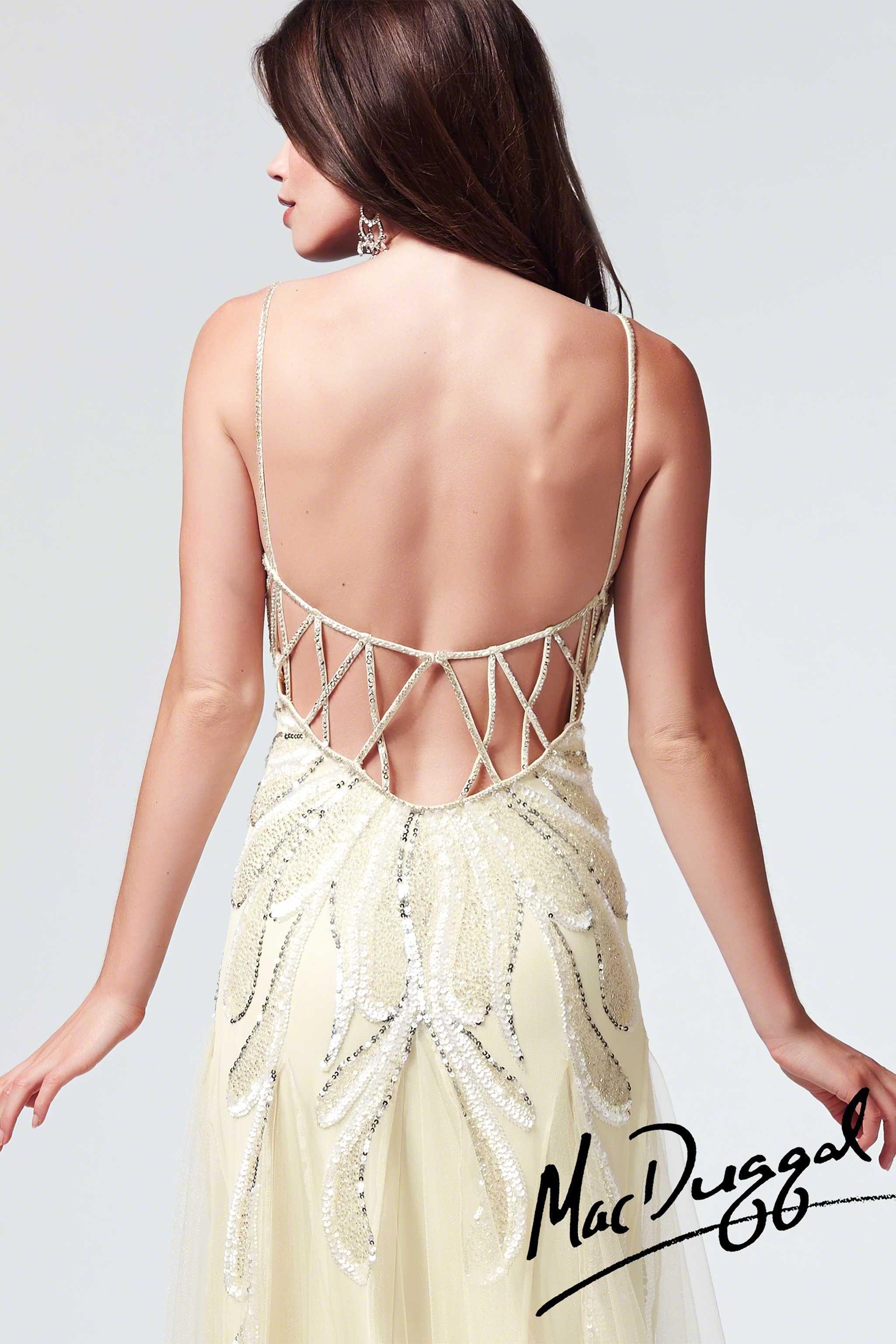 Mac Duggal Sequin Open Back Prom Dress 1905m Dresses Open Back Prom Dresses Mac Duggal Dresses